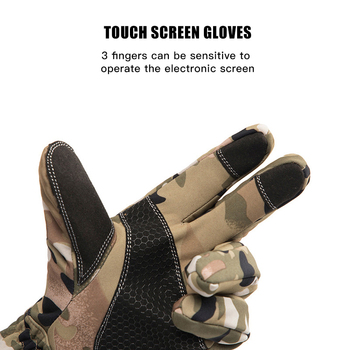 Queshark Women Men Winter Camouflage Hunting Gloves Warm Anti-slip Fishing Gloves Waterproof Touch Screen Skiing Camping Gloves 4