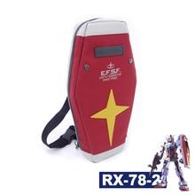 Harajuku Mobile Suit Gundam RX-78-2 Shield Bag Anime Cosplay Red School Backpack Shoulder Bag Arm Single Travel Messenger Bags