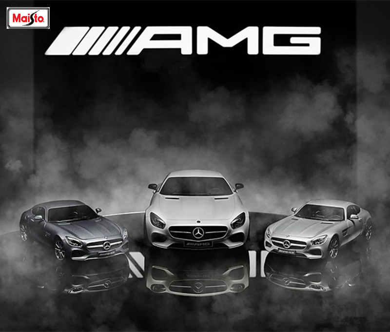 Maisto 1:18 Mercedes Benz AMG GT Alloy Car Model Die-casting Model Car Simulation Car Decoration Collection Gift Toy