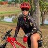 Kafitt calças de ciclismo das mulheres long-sleeved macacão bicicleta terno da bicicleta de estrada mountain bike terno profissional moletom ciclismo 4
