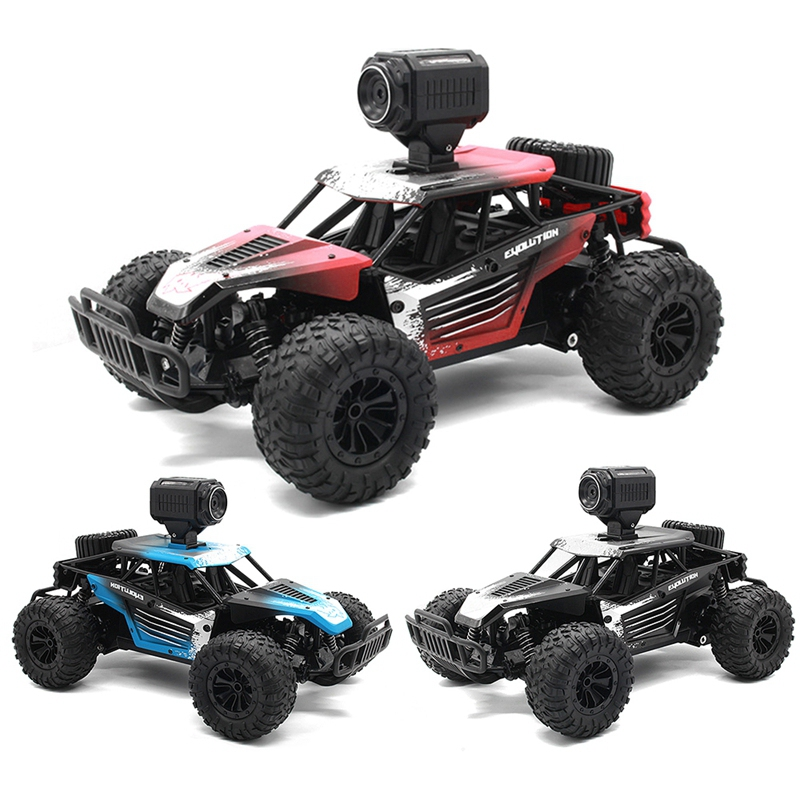 25KM/H 2.4G Electric High Speed Racing RC Car With WiFi FPV 720P Camera HD 1:18 Radio Remote Control Climb Off-Road Buggy Trucks