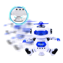 цена на Action Figure Robot Toys Kids Lighting Walking Music Intelligent Obstacle Avoidance Dancing Robot Action Figure for Infant Gift