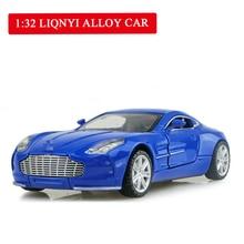 лучшая цена Hot Sell 1:32  Alloy Car Toys for Children Diecast Model Car Openable Door Belt Sound and Light  Birthday Gift Freeshipping