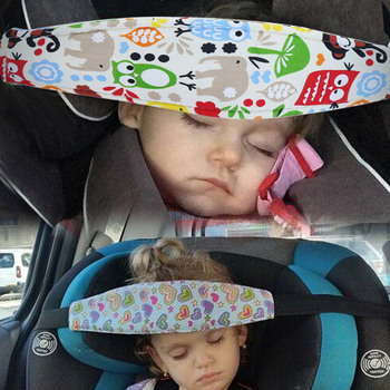 Baby Head Support Holder Sleeping Belt Adjustable Kid Stroller Head Belt Car Seat Head Support Children Belt Baby Saftey Pillows image