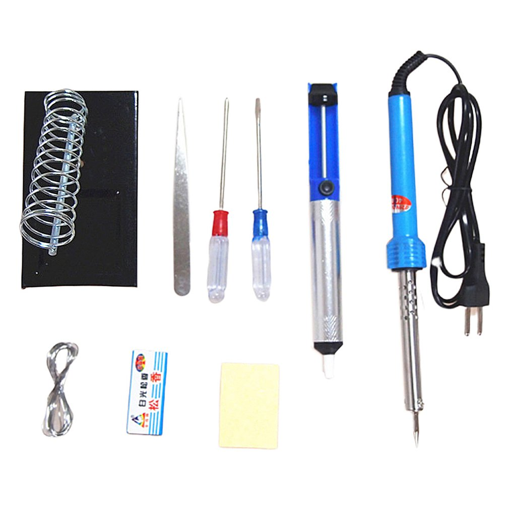 9 In 1  Soldering Iron Suit 110V-220v 30w 40w 60W Electronic Set Tool Rubber Handle Electric Soldering Iron