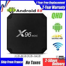 Best IPTV BOX x96 mini qhdtv android 9.0 Smart tv box 4K Amlogic S905W 1G 8G 2G 16G smart ip tv set top boxes ship from france