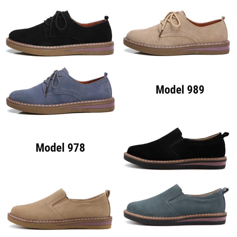 2019 Mode Schoenen Vrouwen Platte Mocassins Oxford voor Vrouwen Schoenen Sneathers Leather Suede Lace Up Schoenen Vrouw Hot Koop
