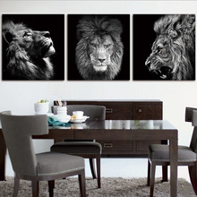 Black and White Lion Picture Home Decor Wall Art Nordic Canvas Painting Vivid Animal Modern Art Print and Poster for Living Room wall art canvas painting classical famous abstract picture home decor nordic print black white poster painting for living room