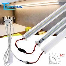 Narożnik ścienny typu V 72 LEDs ue AC220V 50CM listwa LED pomadka rozjaśniająca szafa szafa szafka biurko pokój biurowy lampka nocna