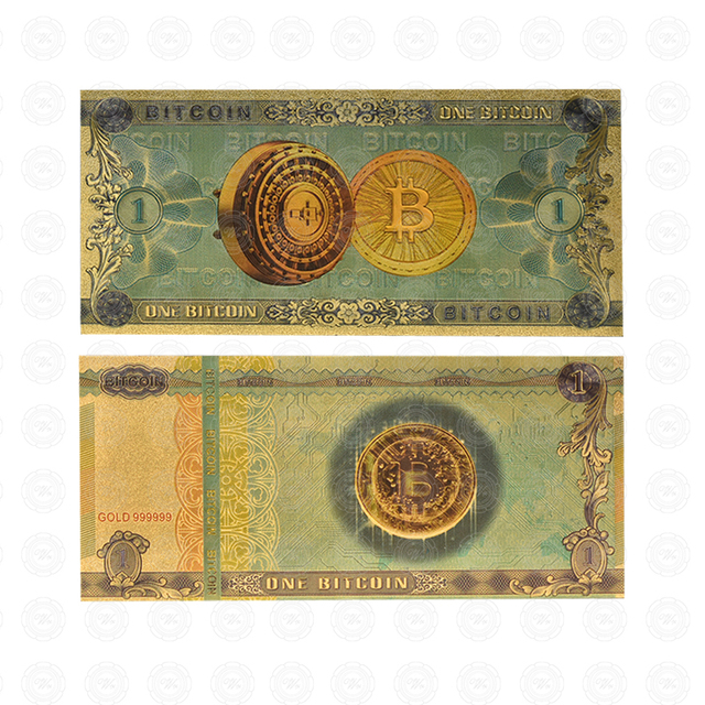 one Bitcoin banknote