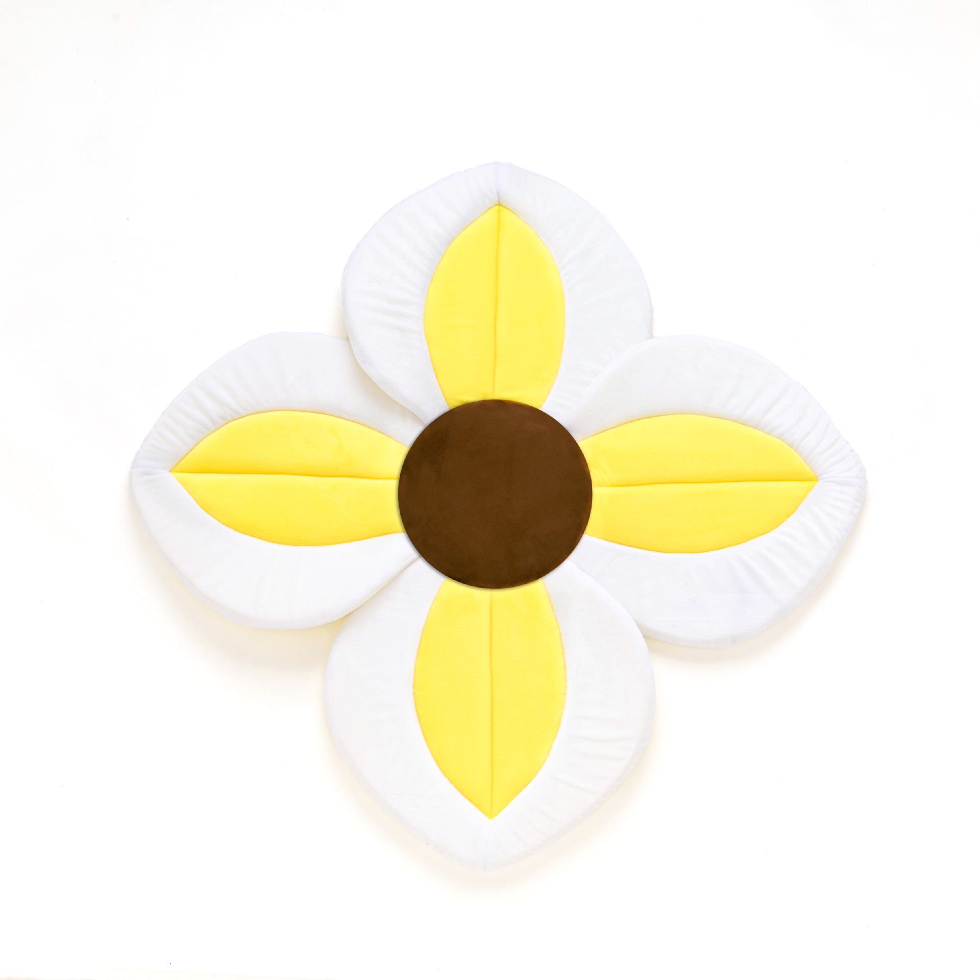 Newborn Foldable Four Petal Flower Shower Cushion Baby Blooming Bath Flower Bath Tub Mat Baby Security Non-slip Bath Seat Pad