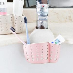 MeyJig Kitchen Sponge Drain Rack Sink Sponge Holder Wheat Fiber Storage Basket Bathroom Organizer Soap Shelf Hanging Basket Wash