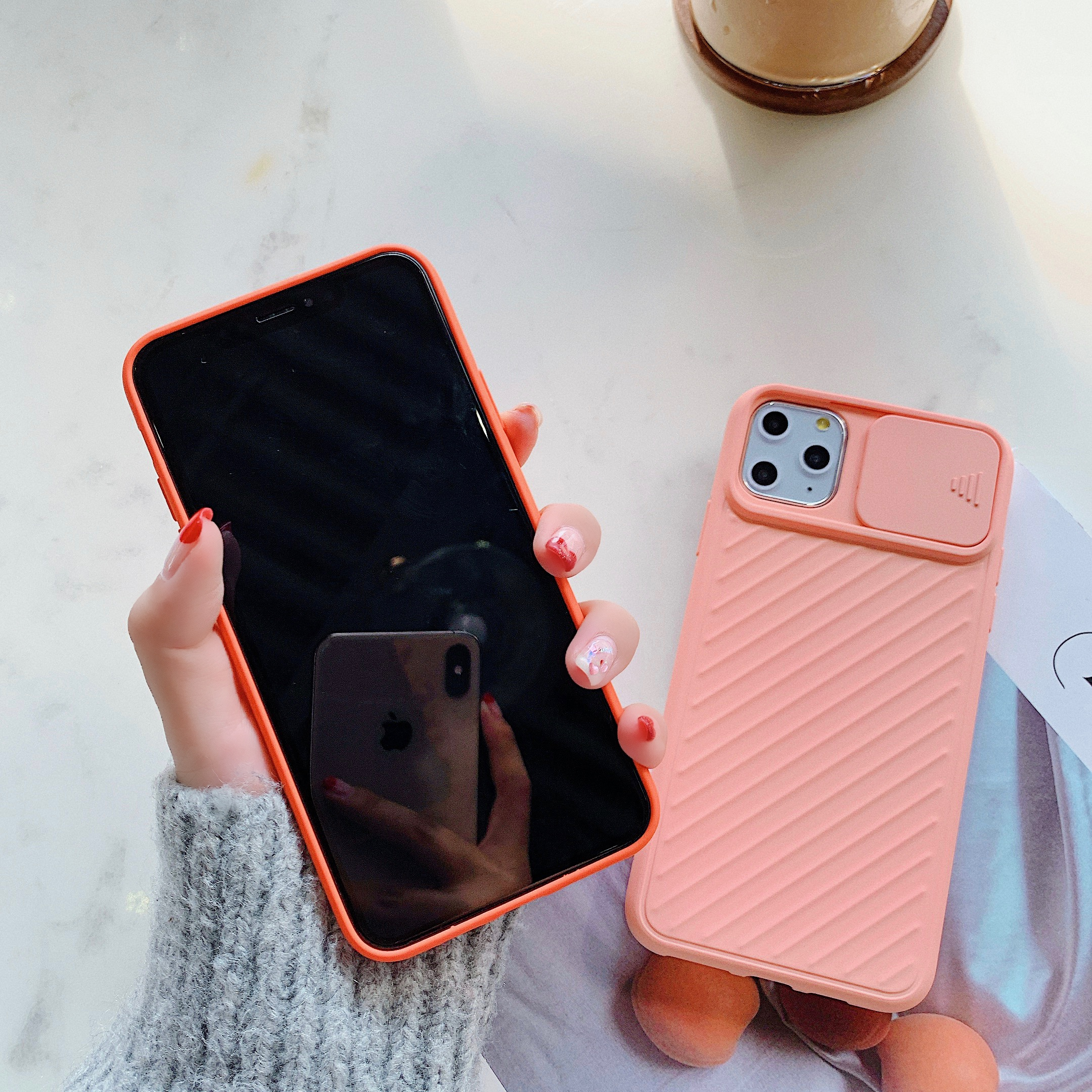 Camera Lens Protection Phone Case on For iPhone 11 Pro Max 8 7 6 6s Plus Xr XsMax X Xs Color Candy Soft Silicone Back Cover Gift 3