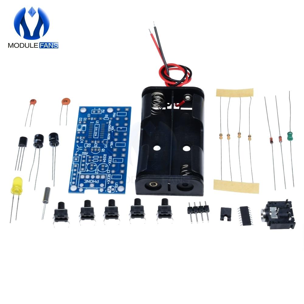DIY Radio Kit 76-108MHz Wireless Stereo FM Audio Receiver 1.8-3.6v DC 2+10/% disc