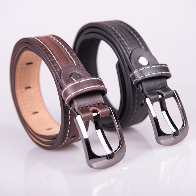 Child Formal Dress Boys Teenage Belt Designer Kids PU Leather Fashion Belt Pin Buckle Black Leisure Strap Casual Children's Belt