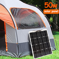 solar panel Flexible 200w 100w 50w 12v solar battery charger Solar cell Kit for car boat RV caravan Power home System Camping