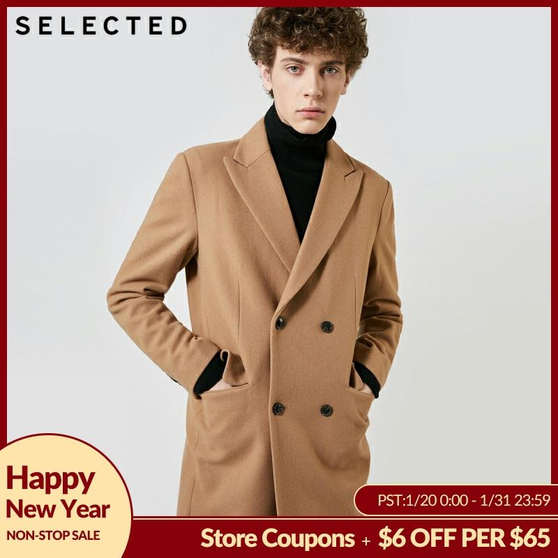 SELECTED Autumn & Winter New Men's Wool Coat Vintage Business Long Woolen Outwear Jacket Coat T | 418427529
