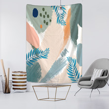 Tropical Plants Leaf Simplicity Creative Illustration Tapestry Wall Hanging Boho Decor Hippie Psychedelic Printed Home Decor