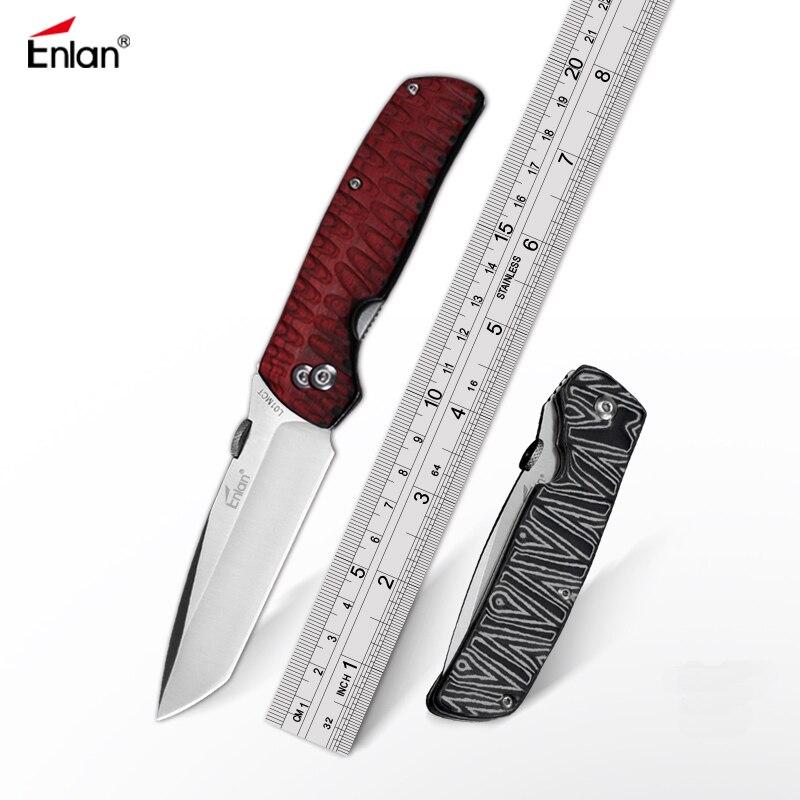 Складной нож Enlan L01MCT, черные карманные ножи Mikata/красные и черные цвета с деревянной ручкой для кемпинга, охоты, выживания, EDC инструменты|tool knife|knife 8cr13movhunting knive | АлиЭкспресс