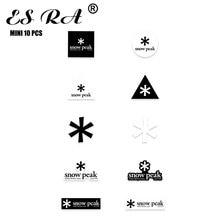 "10 Pcs 1.7"" Small Stickers Camping Logo PVC Waterproof Outdoor Pegatinas Brand Vinyl For Lugguage Laptop Bike Bottle Helmet"