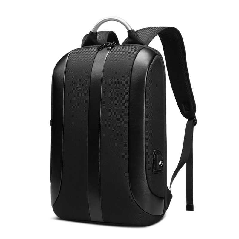 EURCOOL ince dizüstü sırt çantası erkekler 15.6 inç ofis iş kadın sırt çantası iş çantası Unisex siyah Ultralight Oxford sırt çantası