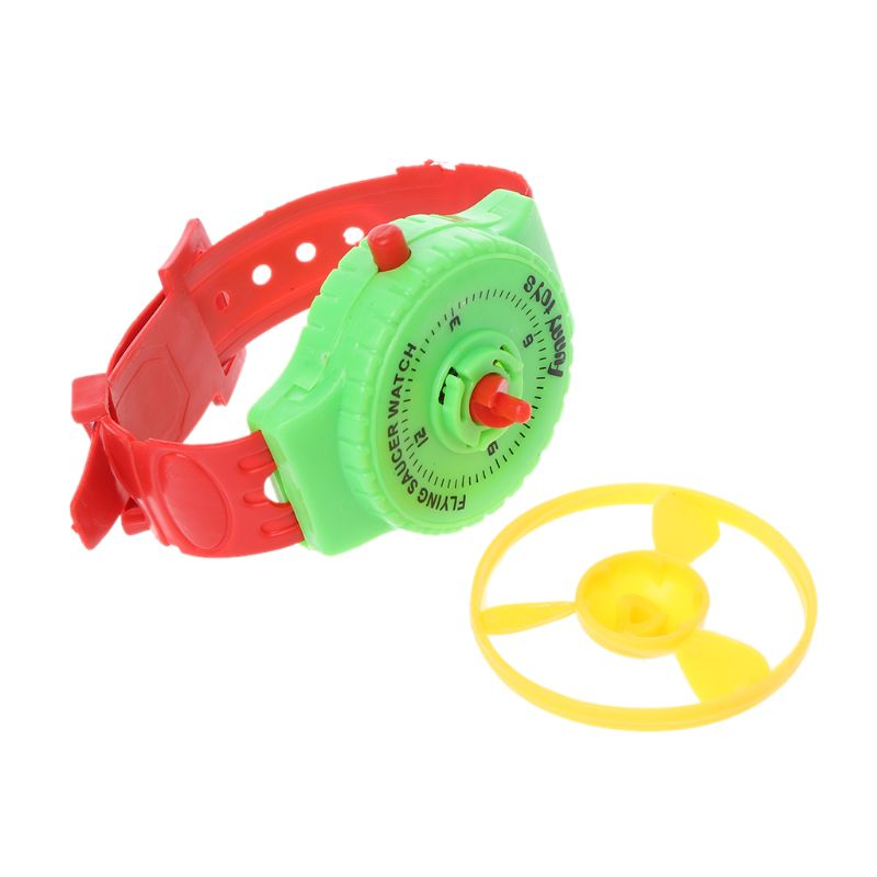 Funny UFO Fly-ing Saucer Disc Watch Party Favors Kids Toys Wind Up Gadget Gift