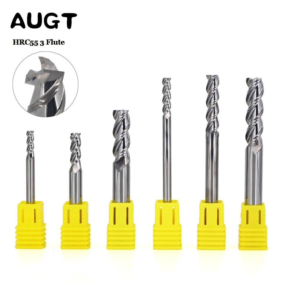 KLOT HRC50 Solid Carbide End Mill For Aluminum 7mm-20mm 2-Flute CNC Cutter Bits