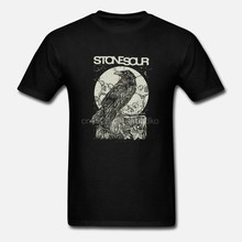 STONE SOUR CROW สีดำ T SHIRT ALTERNATIVE โลหะ SLIPKNOT KORN SEETHER CUSTOM พิมพ์ TShirt hip hop ตลก TEE MENS TEE เสื้อ(China)