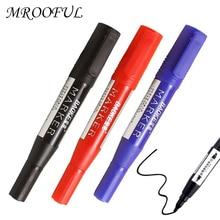 Paint-Marker Highlighters Art-Supplies Double-Headed-Marker-Pen Permanent-Oil Black School