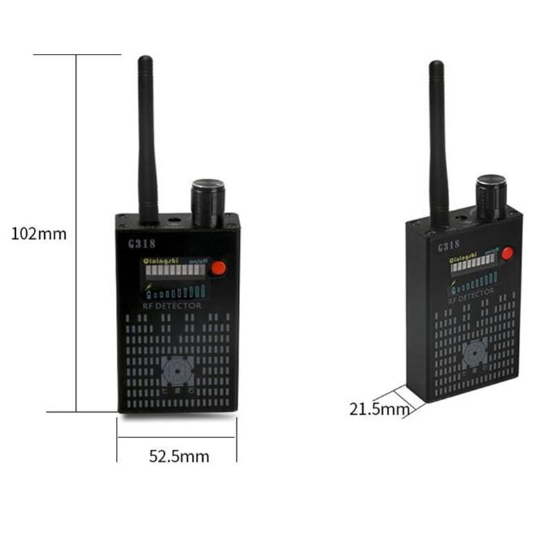 G318 + Wireless Scanner Signal GSM Device Finder RF Detector Microwave Detection Security Sensor Alarm Anti-spy Error Detection