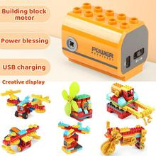 Large Particles Science And Education Gear Toys Assembled Engine Turn The Motor Compatible With Power Building Block Toys