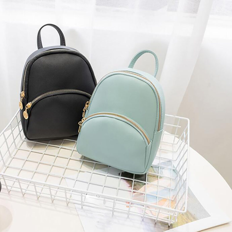 Retro Small Backpacks Women 2020 Fashion Multi-function Mini Backpack Female Shoulder Bags Crossbody Pouch For Teenage Girls