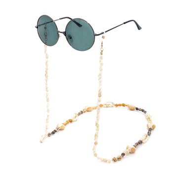 Reading Glasses Chain Hand-made Small Conch Shell Eyewear Chain Sunglasses Holder Neck Strap Rope Ornaments Necklace new boho gold conch shell chain presents
