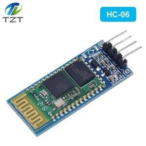 Image 3 - HC06 HC 06 sans fil série 4 broches Bluetooth RF émetteur récepteur Module RS232 TTL pour Arduino bluetooth module