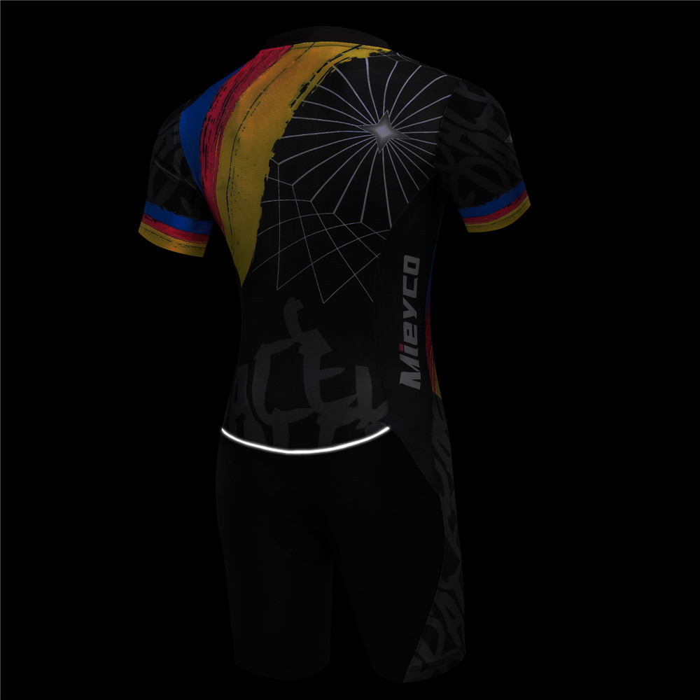 Cycling Clothing Man 2019 Triathlon Suit Cycling Jersey Set Summer MTB Bike Clothes Bicycle Skin suit Swimming Running uniform in Cycling Sets from Sports Entertainment