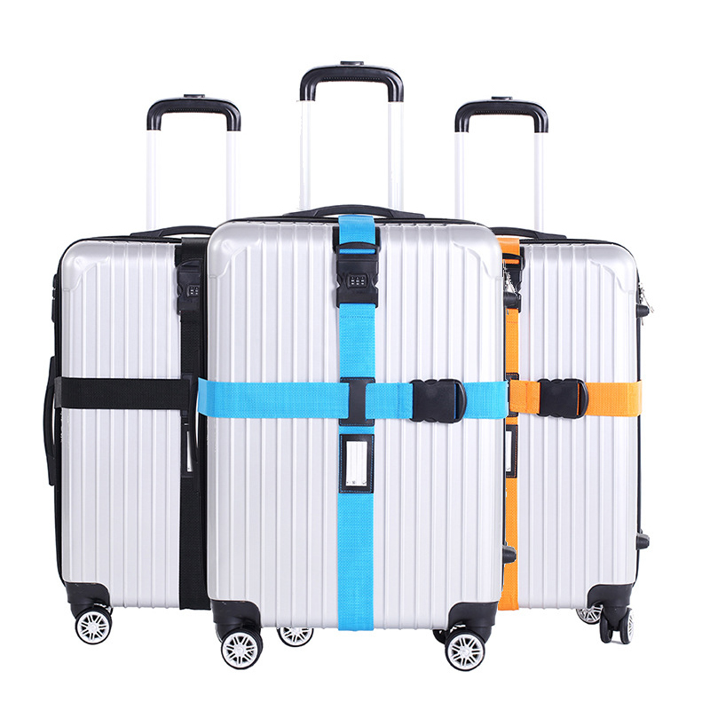 Adjustable Suitcase Bag Luggage Straps Buckle Baggage Tie Down Belt Lock Hooks Travel Accessories High Quality With Luggage Tag