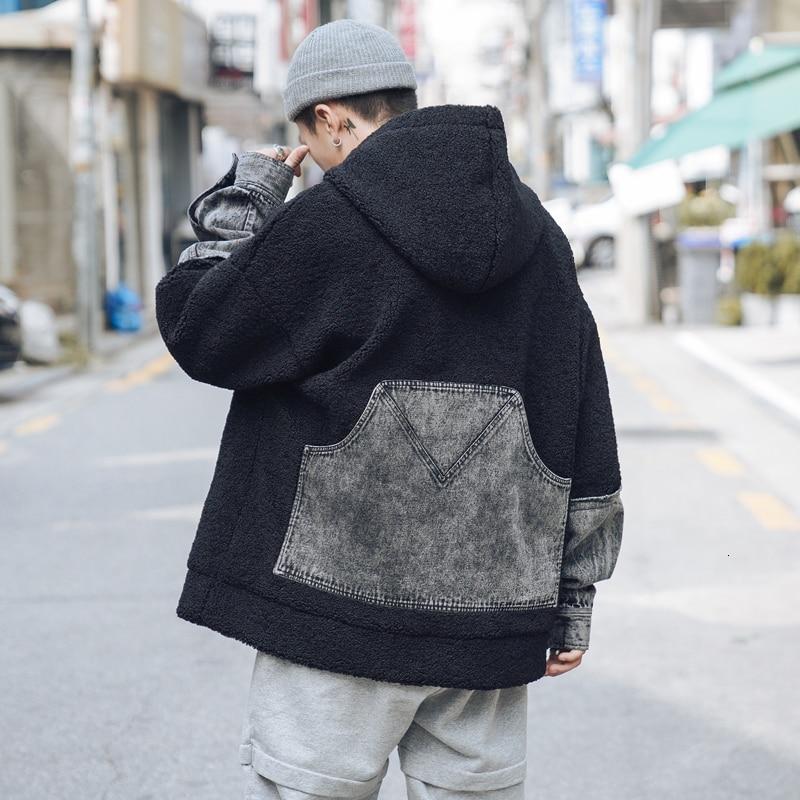 Зимний пуловер, куртка, Мужская теплая Толстая парка, Мужская модная джинсовая стеганая Повседневная куртка с капюшоном, Мужская свободная
