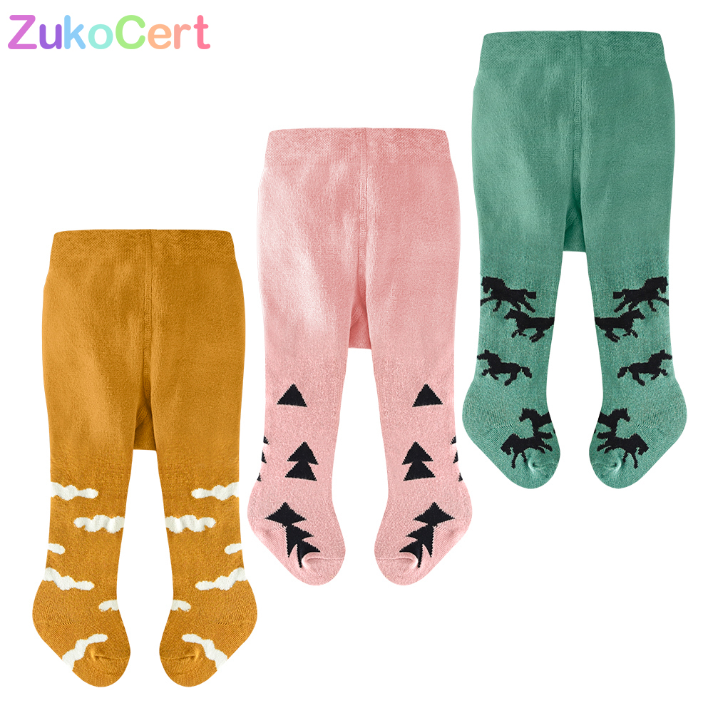 3Pcs/lot Kids Toddler Tights Kawaii Boys Girls Tights Soft Cotton Baby Children Stocking Pantyhose Infants Clothing For 0-2T
