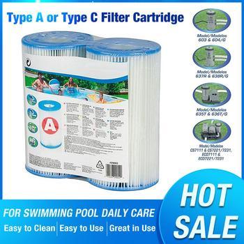 Sprzęt do basenu typ A lub typ C wkład do filtra basen filtr zamienny wkład do filtra do basenu codzienna pielęgnacja tanie i dobre opinie Filter Cartridge Other Support The Type-A size fits any other Type-A-sized filter