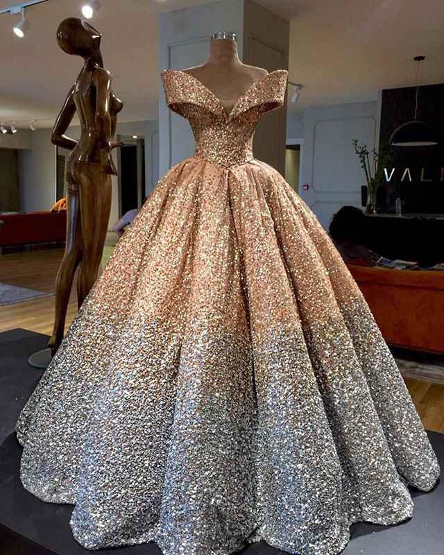 Блестящее бальное платье с блестками платья для выпускного вечера 2020 пышная юбка