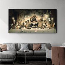 O esquilo do cavalheiro na mesa quadros em tela cartazes e animais jogando poker imprime a arte da parede para a sala de estar