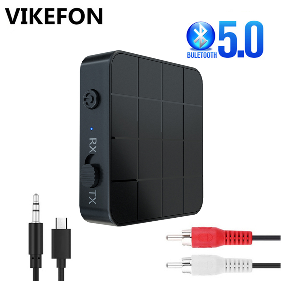 Bluetooth 5.0 4.2 Receiver Transmitter 3.5mm AUX Jack RCA Stereo Music Bluetooth Wireless Audio Adapter For Car TV PC Speakers(China)