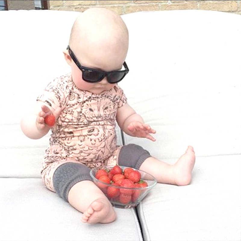 1 paio di ginocchiere per bambini di sicurezza del bambino strisciando pad gomito del bambino camminatore del piedino del bambino copertura di protezione di sostegno del ginocchio del bambino ginocchio pastiglie