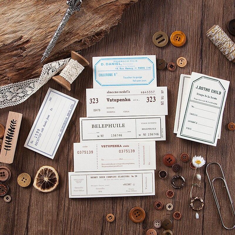 Купить с кэшбэком Journamm 50pcs/pack Retre World City Tickets Deco Memo pads Paper Child Gift Scrapbooking Kawaii Decorative Stationery Memo pads