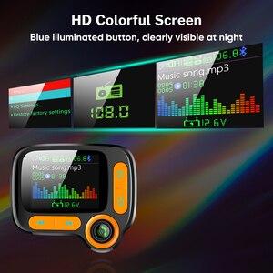 Image 5 - Deelife רכב MP3 נגן Bluetooth לרכב משדר FM מודולטור עם צבע מסך AUX אוטומטי מוסיקה מתאם QC 3.0 USB מטען