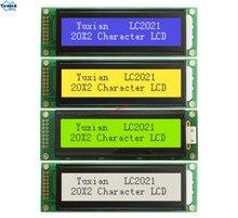 LCD תצוגת מודול 2002 20X2 כחול ירוק LC2021 במקום WH2002A AC202D LHD44780