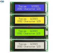 LCD ekran modülü 2002 20X2 mavi yeşil LC2021 yerine WH2002A AC202D LHD44780