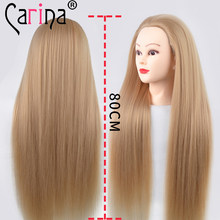 Hot Sale Hairdressing Head For Hairstyles Long Thick Hair Mannequin Head Professional Styling Training Head Hairdresser Maniqui(China)