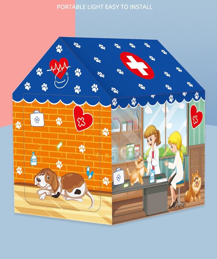 Kit tenda de brinquedo educacional, brinquedos para