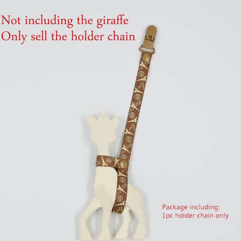 Baby Anti Lost Teether Clip Chain Pacifier Clip 35CM BABY Giraffe Holder Chain Clip Teehter Holder J0154